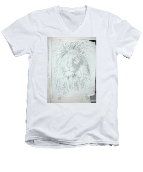 Peace In The Valley Men's V-Neck T-Shirt by Sharyn Winters