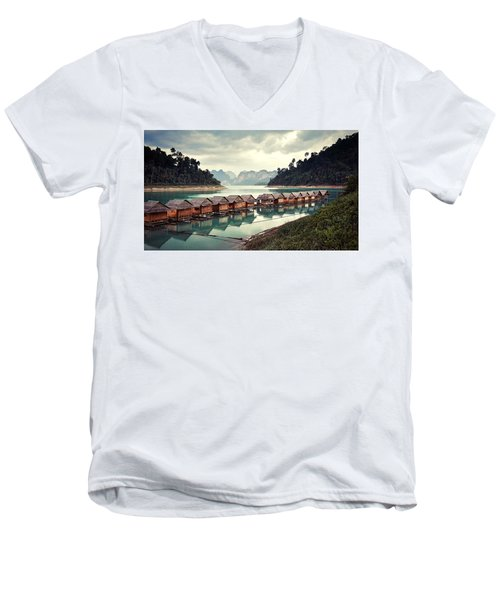 Peace On The Lake Men's V-Neck T-Shirt