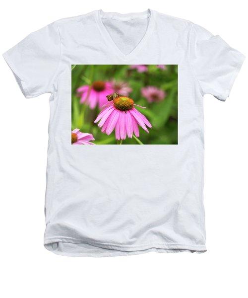 Peaceful Skipper Butterfly Men's V-Neck T-Shirt