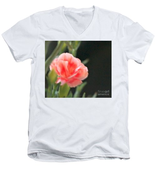 Men's V-Neck T-Shirt featuring the photograph Peach Dream by Cathy Dee Janes