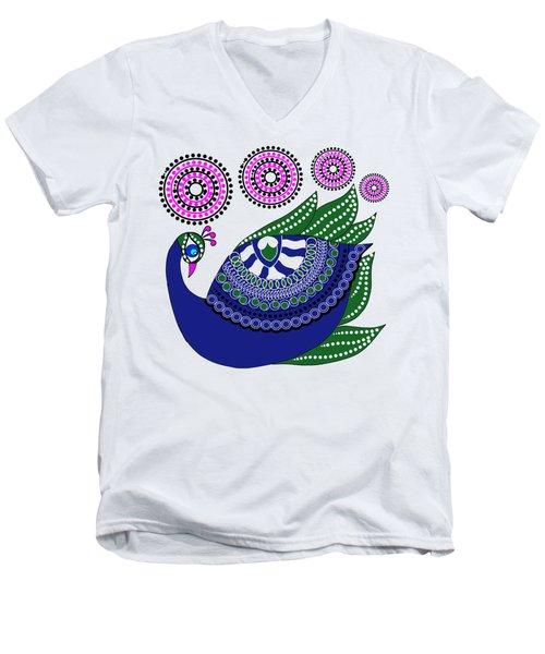 Peacocks Men's V-Neck T-Shirt