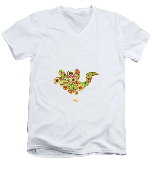 Peafowl Men's V-Neck T-Shirt by BONB Creative