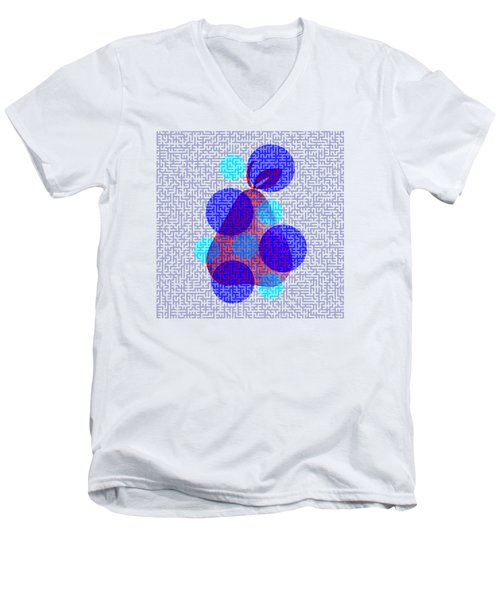 Pear In Blue Men's V-Neck T-Shirt by Coco Des
