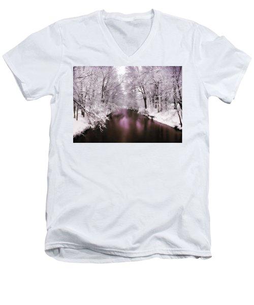 Pearlescent Men's V-Neck T-Shirt