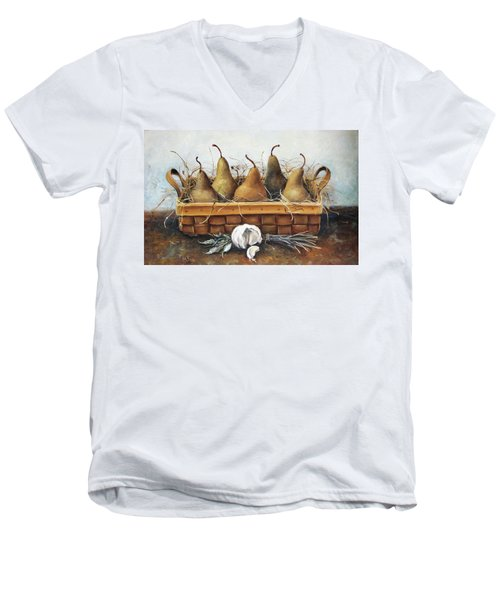 Pears Men's V-Neck T-Shirt