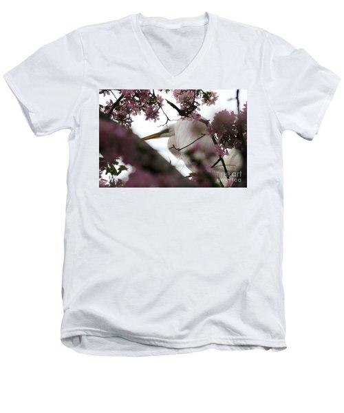 Peek A Boo Men's V-Neck T-Shirt by Sandra Updyke