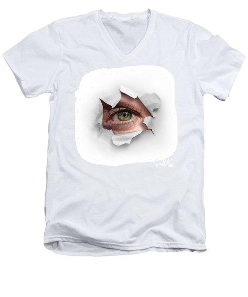 Peek Through A Hole Men's V-Neck T-Shirt
