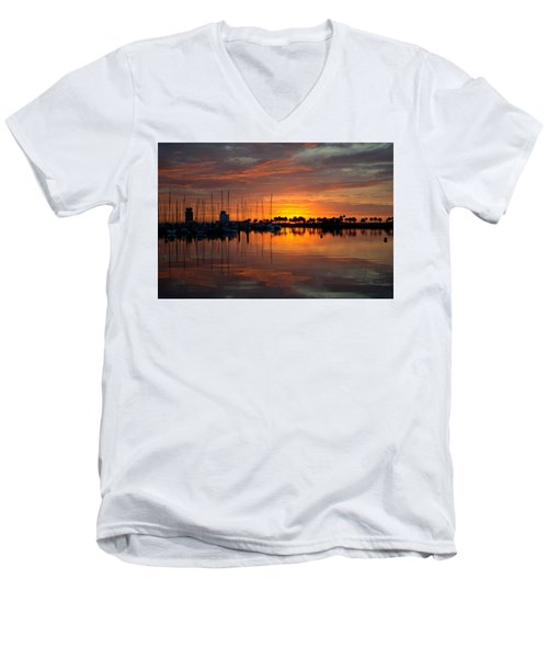 Peeking Sun Men's V-Neck T-Shirt