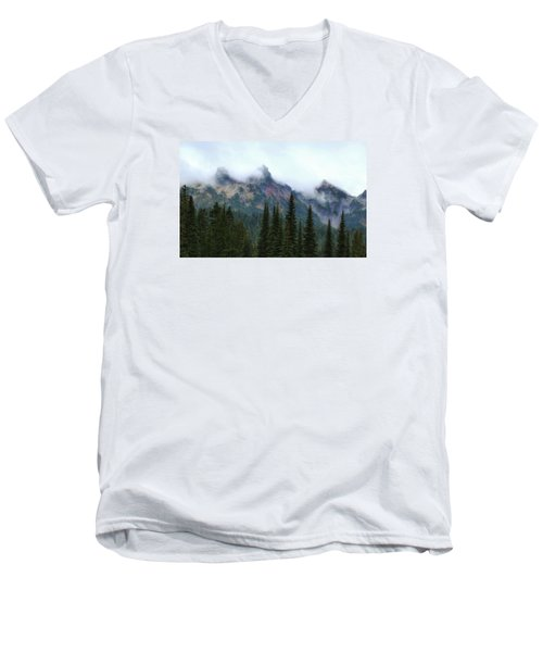 Men's V-Neck T-Shirt featuring the photograph Peeking Through by Lynn Hopwood