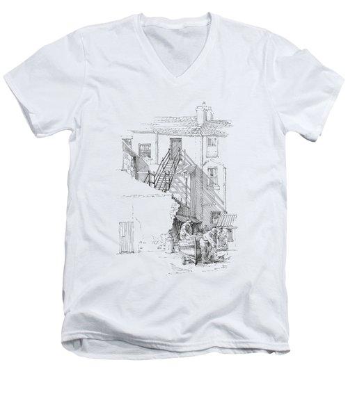 Peel Back Street Men's V-Neck T-Shirt