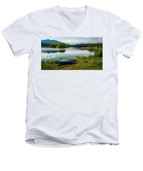 Pelicans At Shadow Mountain Lake Men's V-Neck T-Shirt