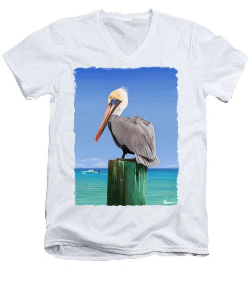 Pelicans Post Men's V-Neck T-Shirt