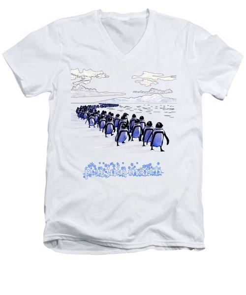 Penguin March Men's V-Neck T-Shirt
