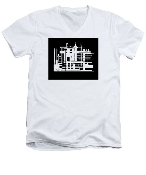 Penman Original-325- The Visitor Men's V-Neck T-Shirt by Andrew Penman