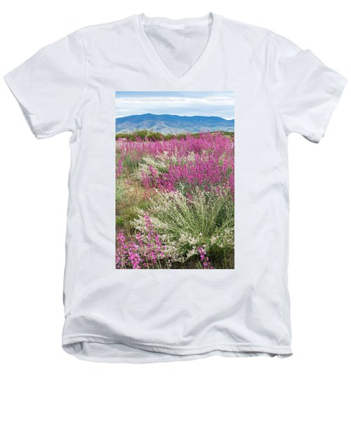 Penstemon At Black Hills Men's V-Neck T-Shirt