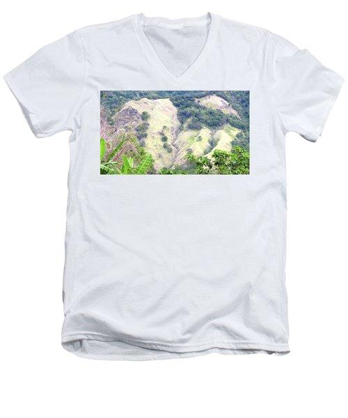 Penuelas, Puerto Rico Mountains Men's V-Neck T-Shirt