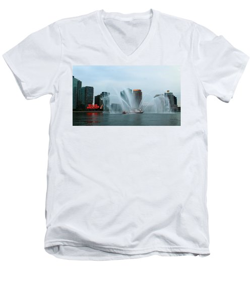 Pepsi Sign And Fdny  Men's V-Neck T-Shirt
