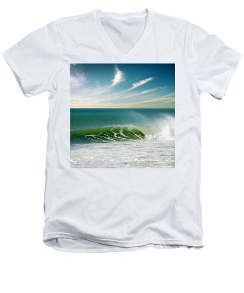 Perfect Wave Men's V-Neck T-Shirt by Carlos Caetano