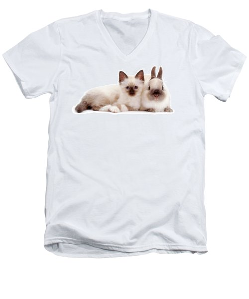 Perfectly Paired Pals Men's V-Neck T-Shirt