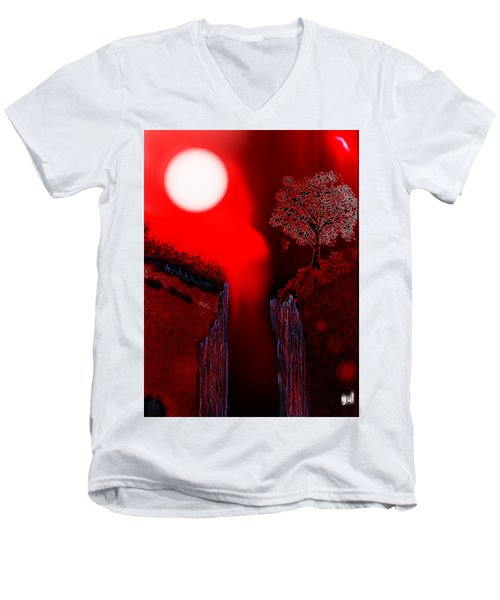 Perigee Moon 2 Men's V-Neck T-Shirt