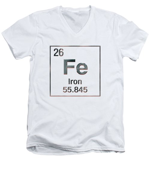 Periodic Table Of Elements - Iron Fe Men's V-Neck T-Shirt