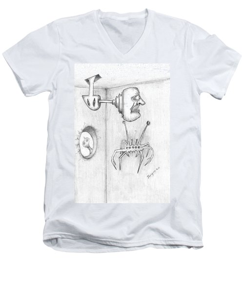 Permanent Fixture Men's V-Neck T-Shirt by Dan Twyman