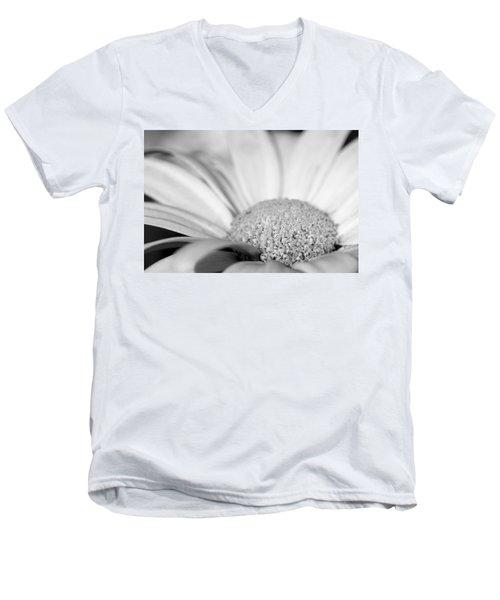 Petals - Black And White Men's V-Neck T-Shirt by Angela Rath