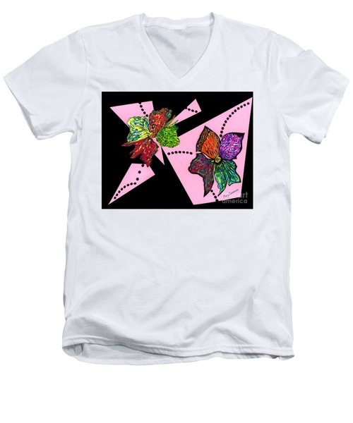 Petals In Motion Men's V-Neck T-Shirt