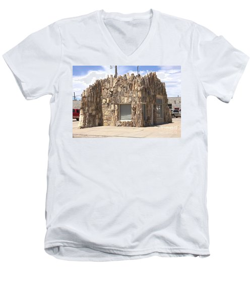 Petrified Wood Building Men's V-Neck T-Shirt