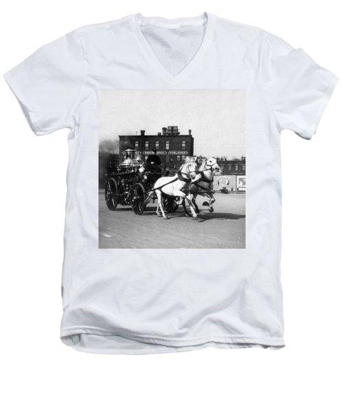 Philadelphia Fire Department Engine - C 1905 Men's V-Neck T-Shirt