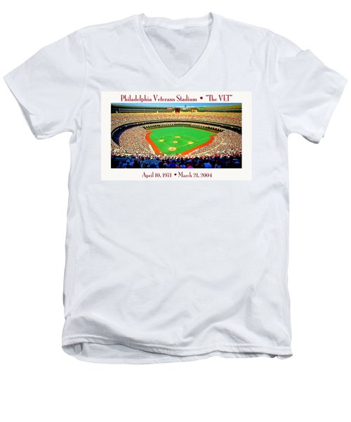 Philadelphia Veterans Stadium The Vet Men's V-Neck T-Shirt