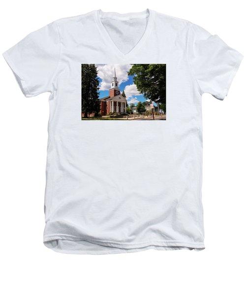Phillips Stevens Chapel, Williston Northampton School, Easthampton, Ma Men's V-Neck T-Shirt