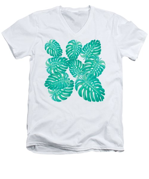 Philodendron Leaves Men's V-Neck T-Shirt