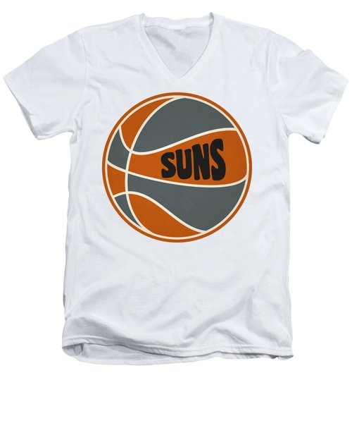 Men's V-Neck T-Shirt featuring the photograph Phoenix Suns Retro Shirt by Joe Hamilton