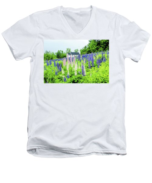 Men's V-Neck T-Shirt featuring the photograph Photographers Dream Or Allergy Nightmare by Greg Fortier
