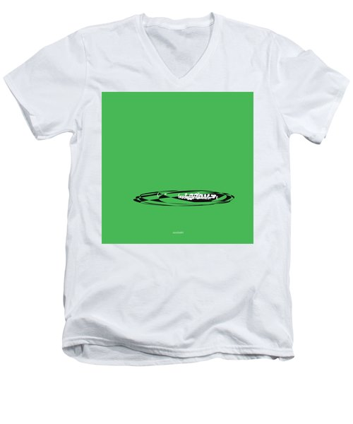 Men's V-Neck T-Shirt featuring the digital art Piccolo In Green by Jazz DaBri