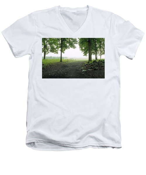 Pickett's Charge Men's V-Neck T-Shirt by Jan W Faul