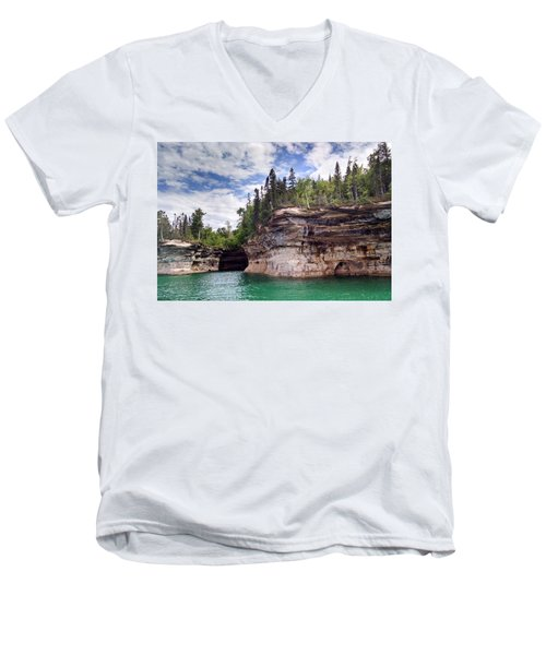 Pictured Rocks Men's V-Neck T-Shirt