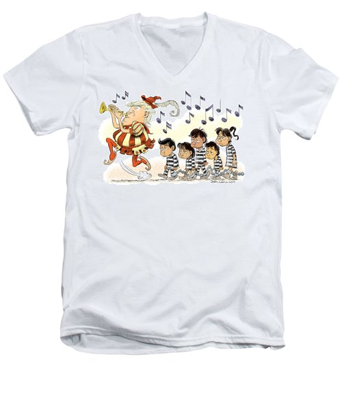 Pied Piper Trump And Infestation Men's V-Neck T-Shirt