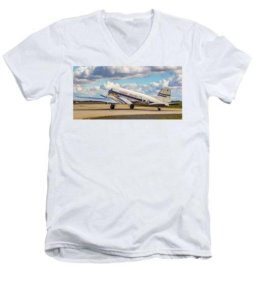 Piedmont Dc-3 Men's V-Neck T-Shirt