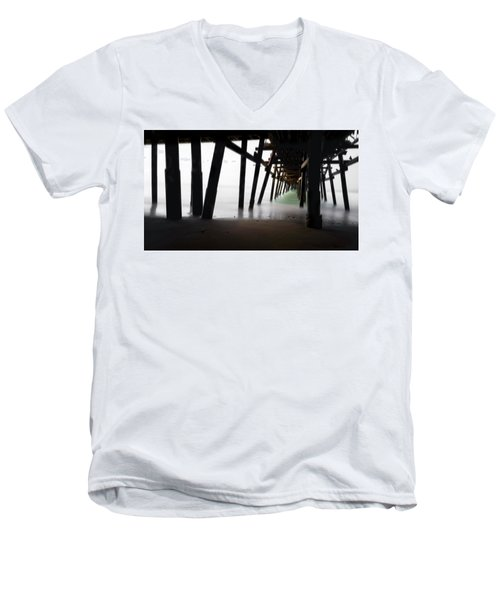 Men's V-Neck T-Shirt featuring the photograph Pier Pressure by Sean Foster