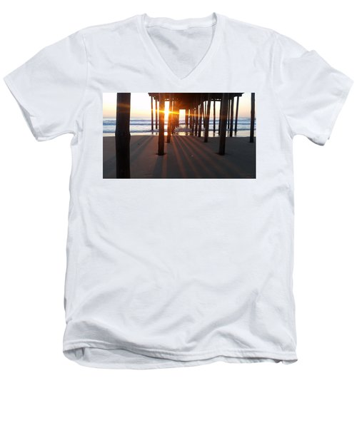 Pier Shadows Men's V-Neck T-Shirt