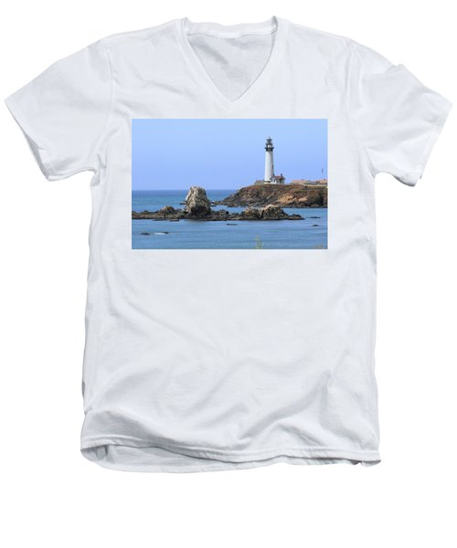 Pigeon Point Lighthouse Men's V-Neck T-Shirt