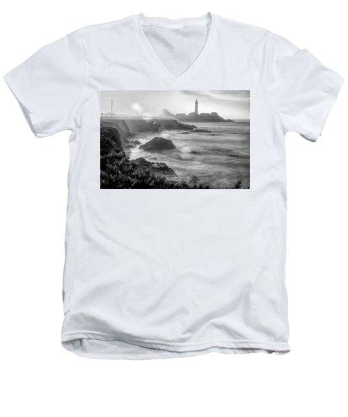 Pigeon Point Rocky Shore Men's V-Neck T-Shirt