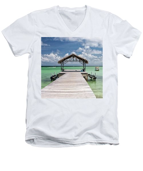 Pigeon Point, Tobago#pigeonpoint Men's V-Neck T-Shirt by John Edwards