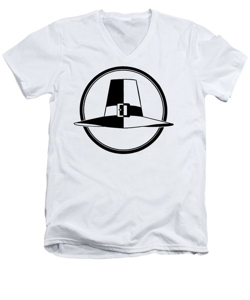 Pilgrim Hat - Tee Shirt Men's V-Neck T-Shirt