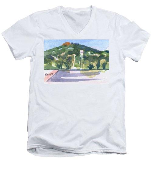 Pilot Knob Mountain W404 Men's V-Neck T-Shirt by Kip DeVore