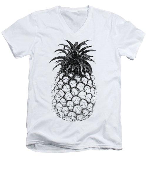 Pineapple Men's V-Neck T-Shirt by Birgitta
