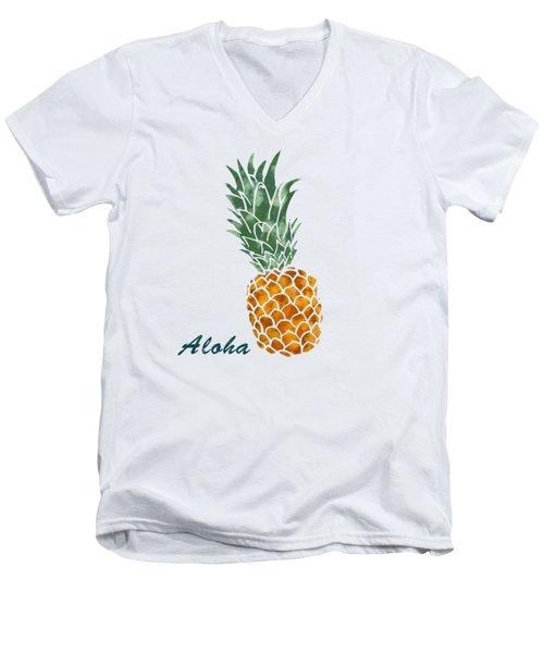 Pineapple Men's V-Neck T-Shirt by Jirka Svetlik