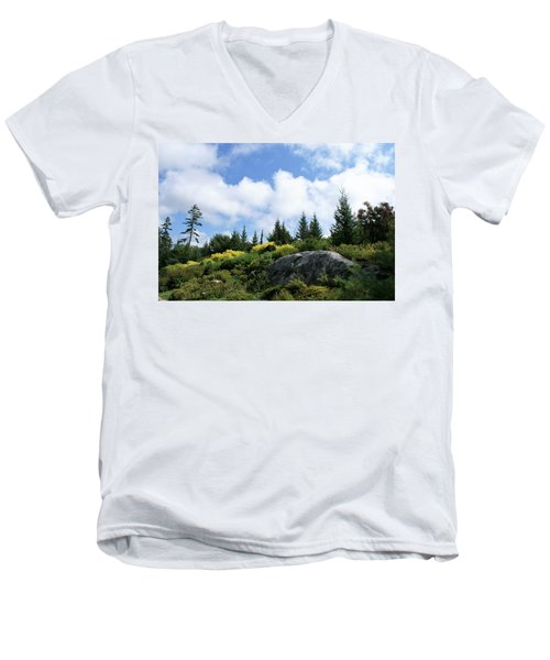 Pines At The Top Men's V-Neck T-Shirt by Lois Lepisto